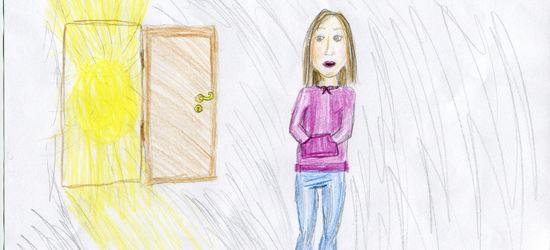 En åpnet dør